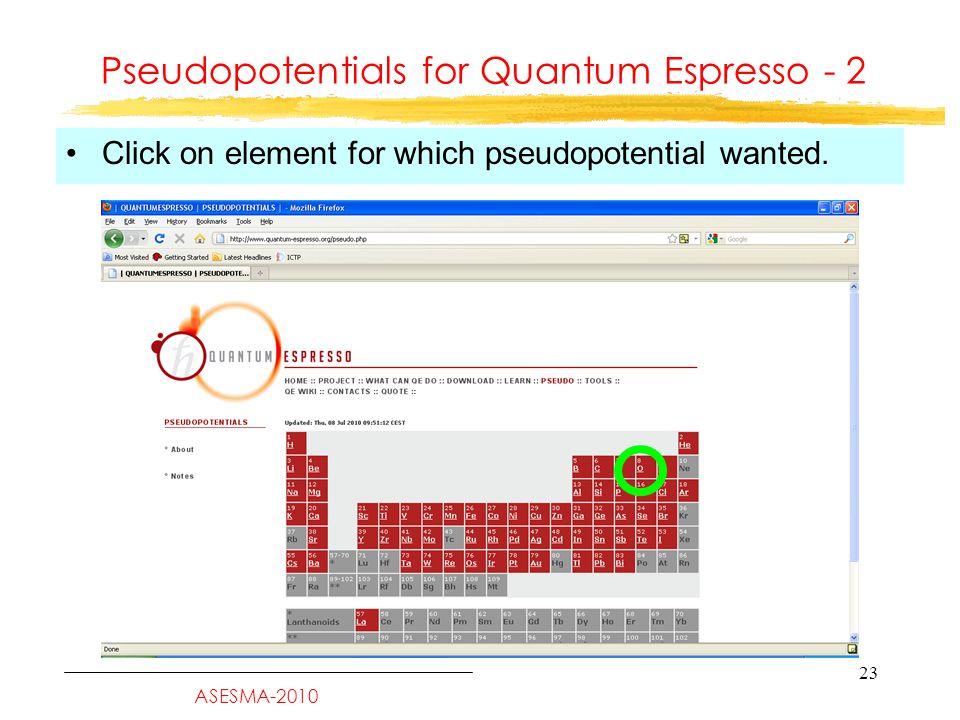 Quantum Espresso Verbosity