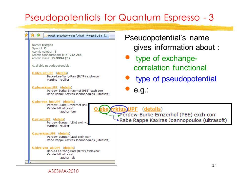 Quantum-ESPRESSO: The SCF Loop and Some Relevant Input Parameters