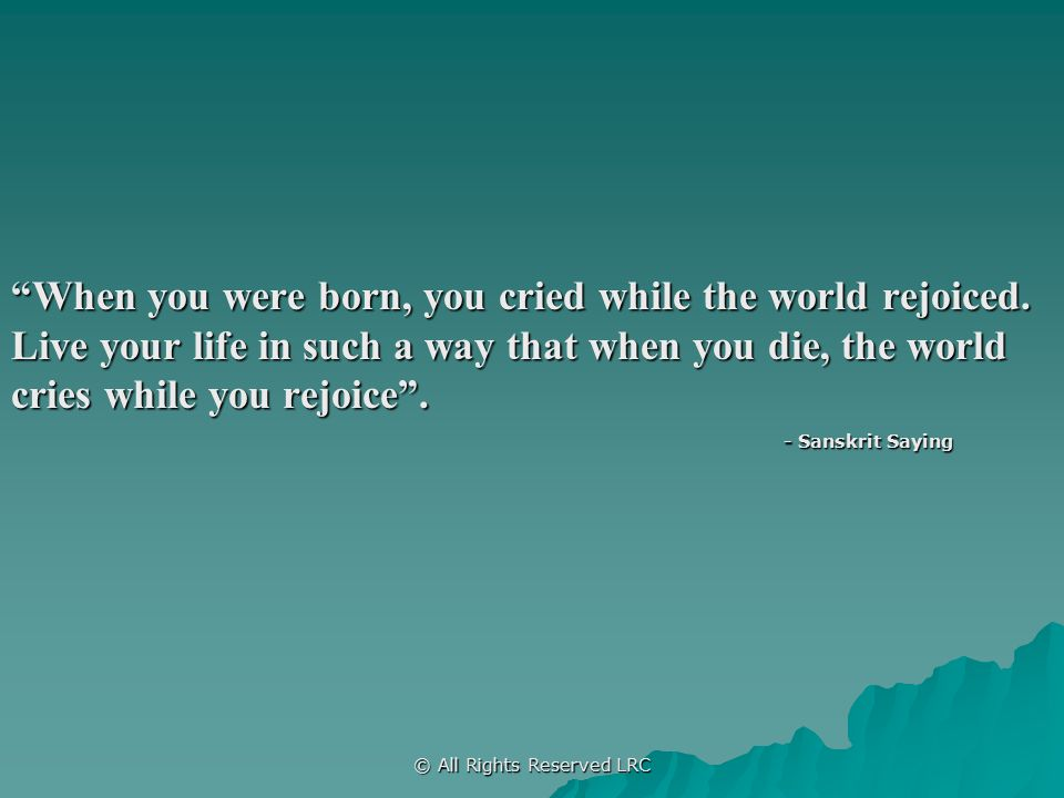 Who Will Cry When You Die Ppt Download