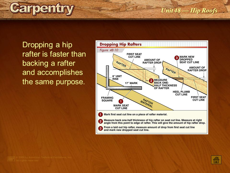 Hip Rafters Hip Jack Rafters Constructing Hip Roofs Ppt Video Online Download