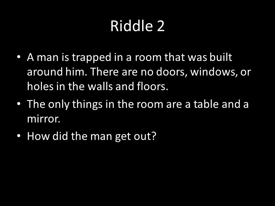 Riddle Me This How Is Your Logic
