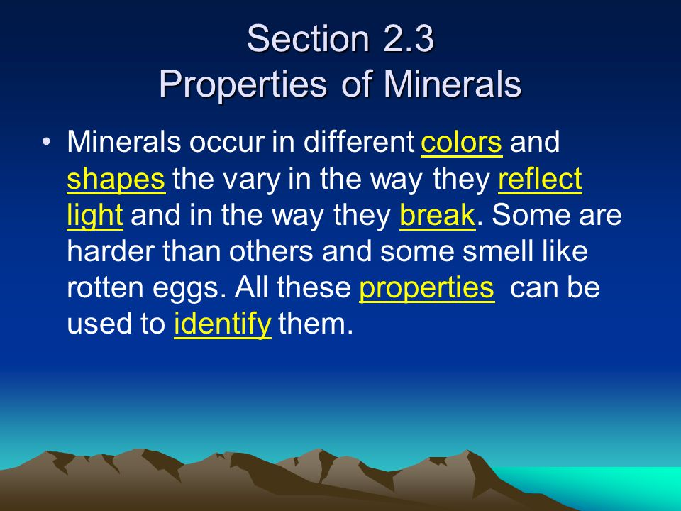 Chapter 2 Minerals Ppt Download