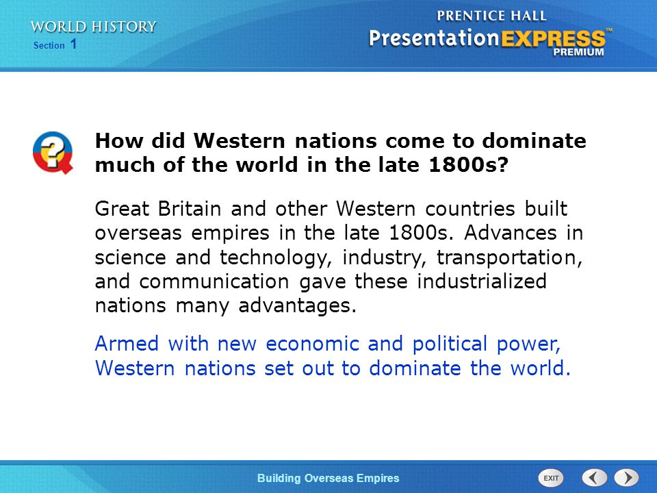 How did Western nations come to dominate