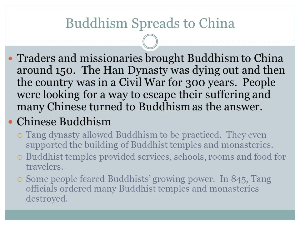 Buddhism Spreads to China