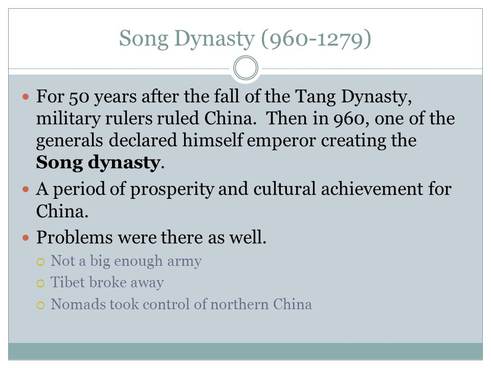 Song Dynasty ( )
