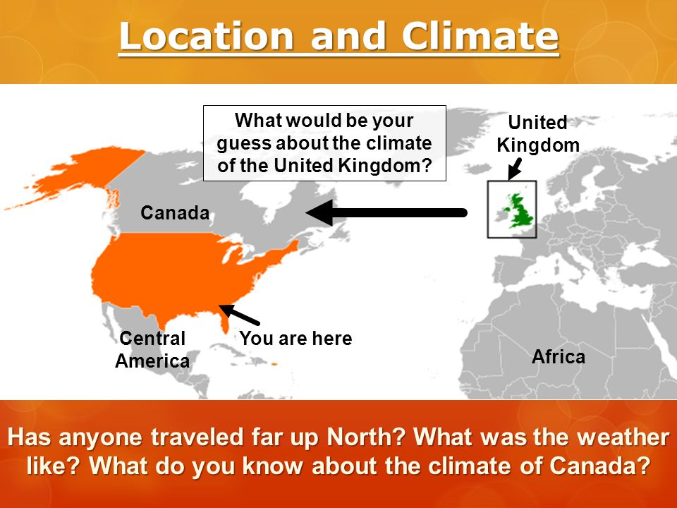 What would be your guess about the climate of the United Kingdom