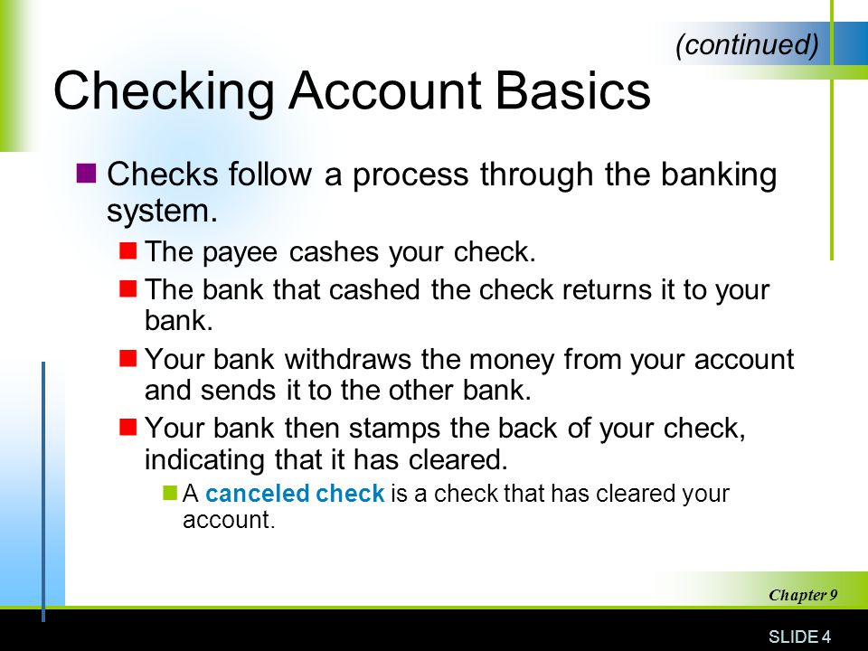 Checking Account Basics