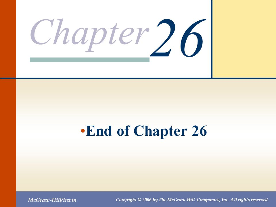 26 End of Chapter 26
