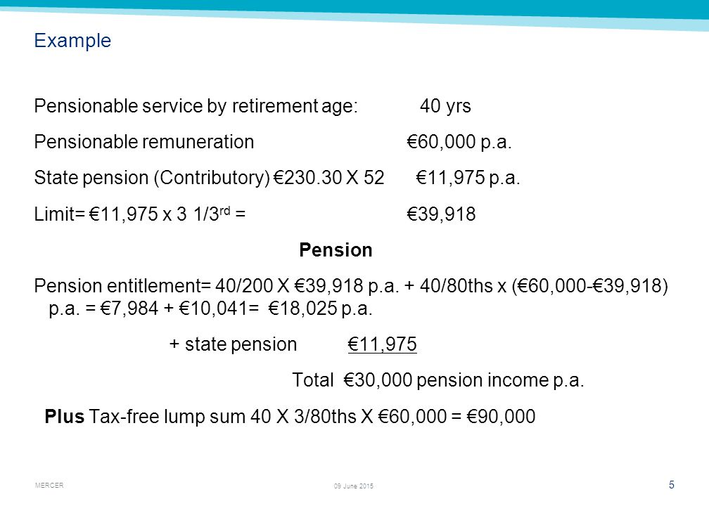 Agenda Main scheme pension benefits - ppt download