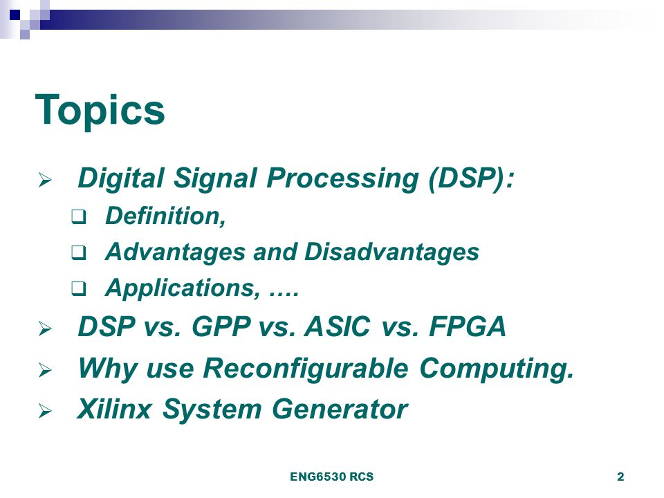 Digital Signal Processing using FPGAs - ppt download