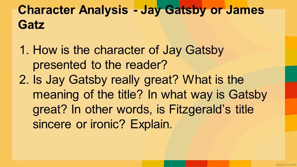 in what way is gatsby great