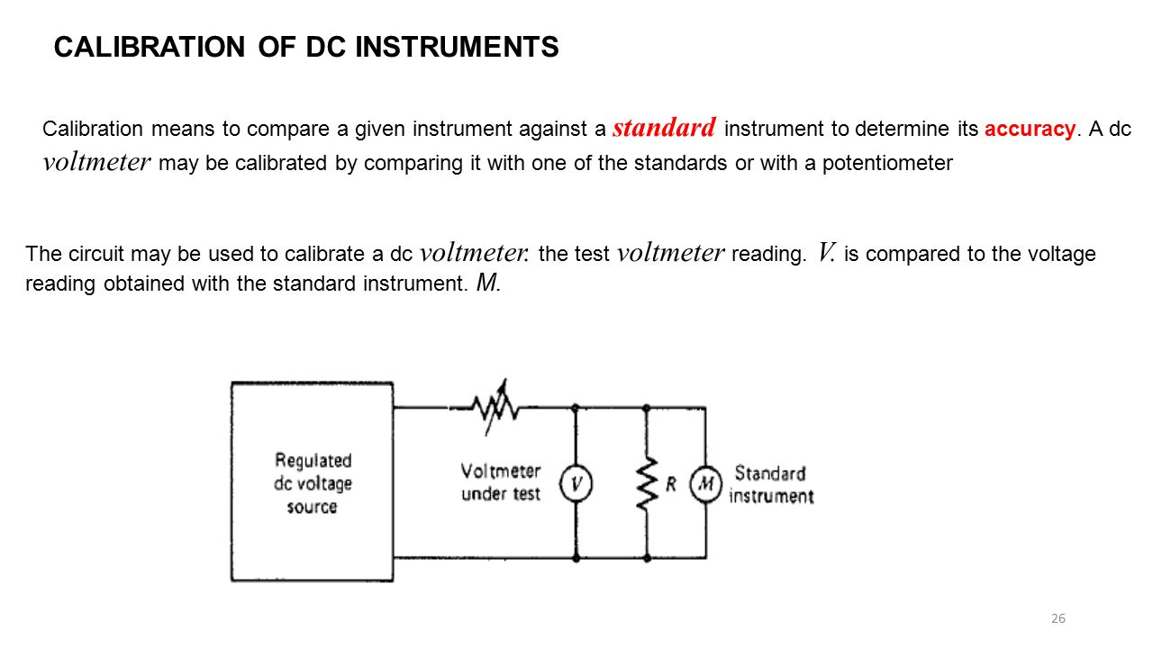 Circuit And Determines The State Of By Comparing Voltmeter Loading Effects Ppt Video Online Download Calibration Dc Instruments