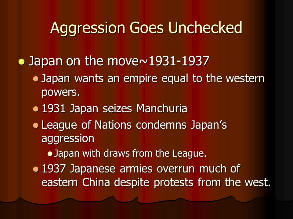 Aggression Goes Unchecked