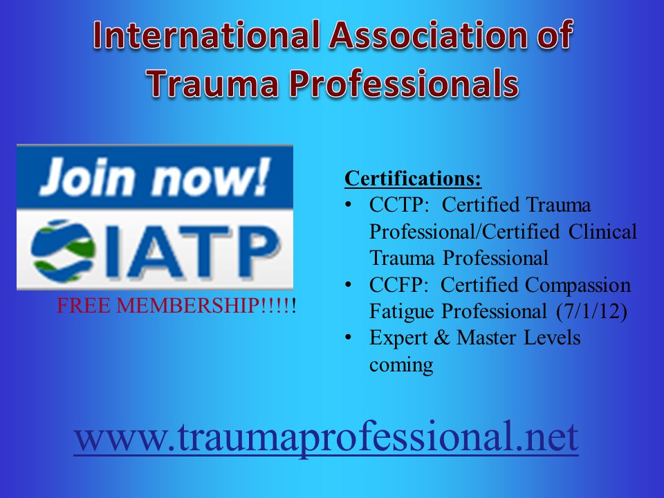 Trauma Competency & Certification Training - ppt download