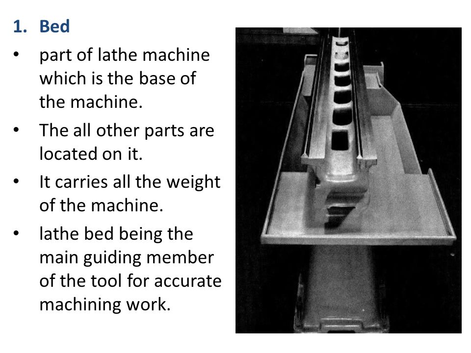 parts of lathe machine pdf