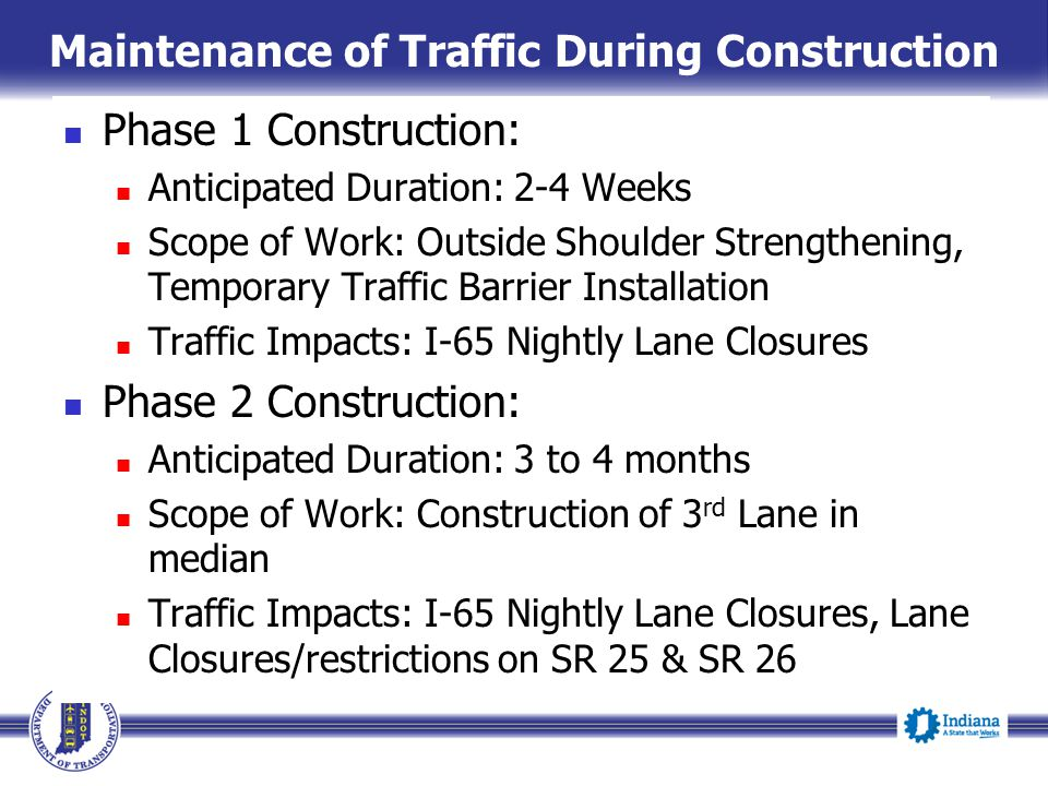 I-65 Added Travel Lanes Project in Tippecanoe County - ppt