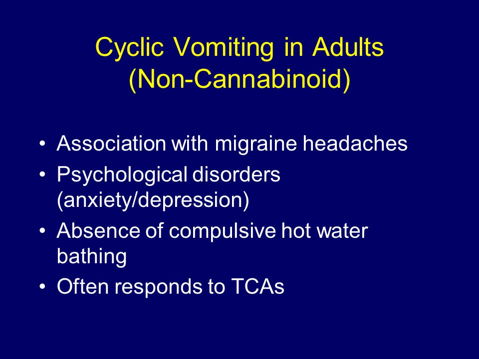 Cyclic Vomiting in Adults (Non-Cannabinoid)