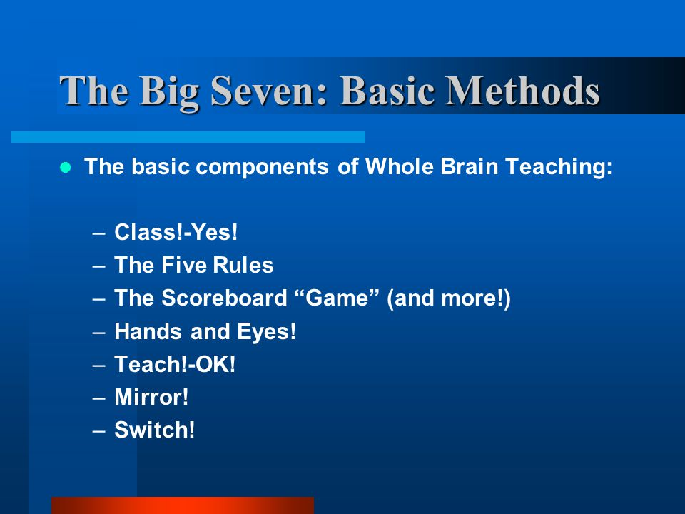 Classroom Management and Brain Based Learning - ppt video