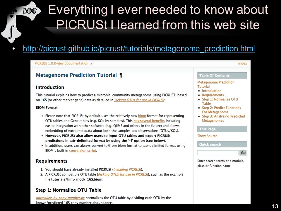 Amplicon functional profiling with PICRUSt - ppt video online download