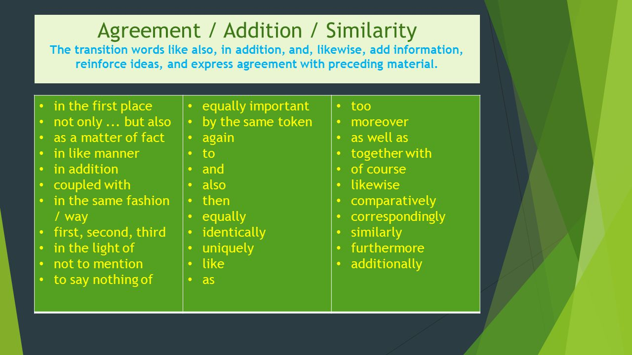 Transition Words and Phrases - ppt video online download