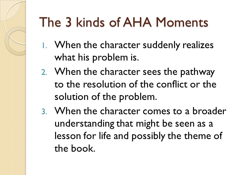 The 3 kinds of AHA Moments