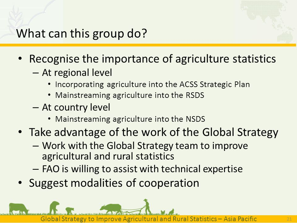 importance of agricultural statistics