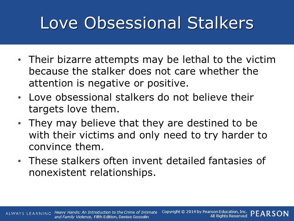 Do stalkers love their victims