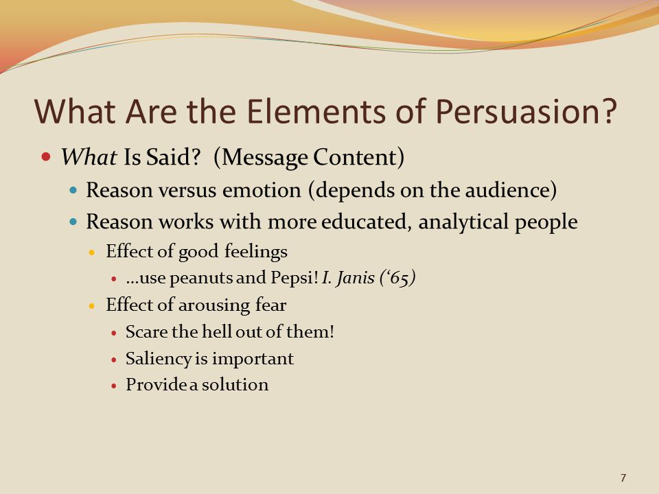 What Are The Elements Of Persuasion