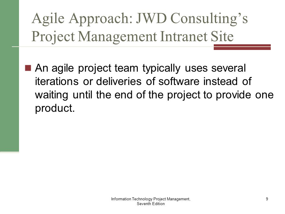 jwd consultings project management intranet site project