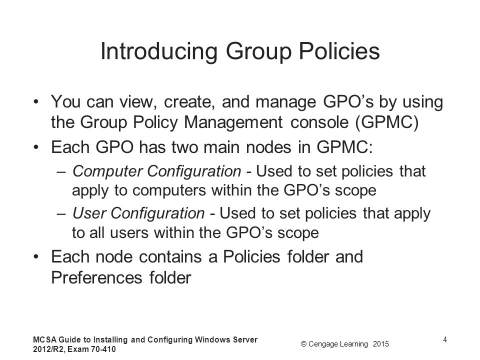Chapter 8 Configuring Group Policies - ppt download