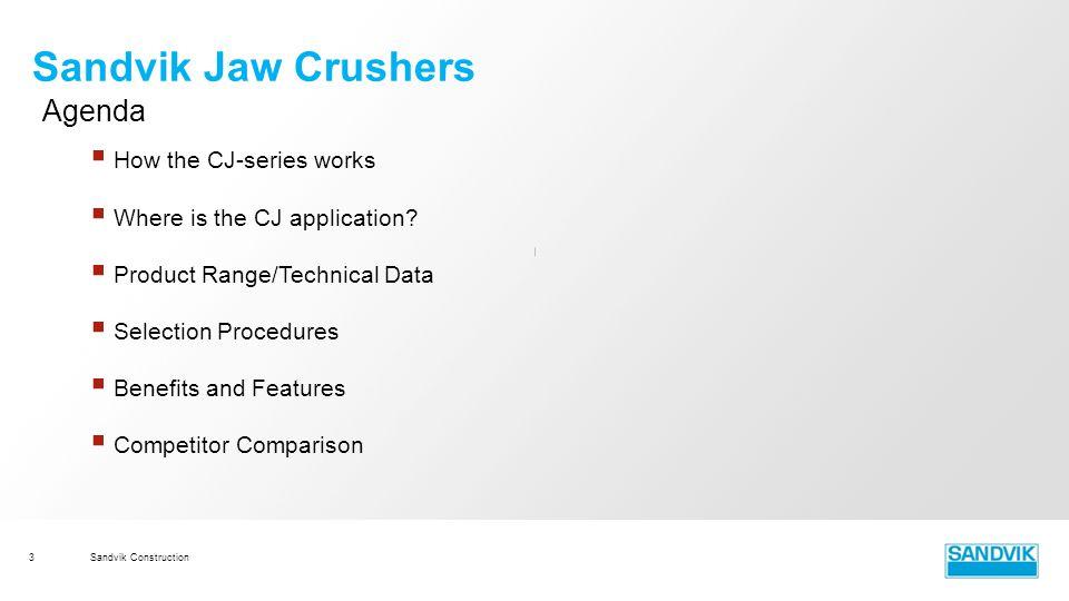 sandvik construction module 3 cj jaw crushers ppt video online rh slideplayer com Operations Manual Examples User Manual
