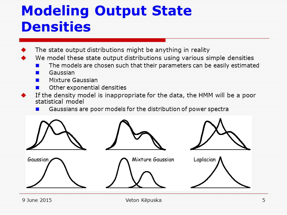 Modeling Output State Densities