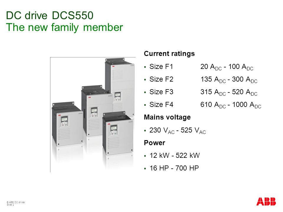 Dcs550 Sales Presentation Ppt Video Online Download. Dc Drive Dcs550 The New Family Member. Wiring. Dcs800 Drive Wiring Diagram Dc At Scoala.co