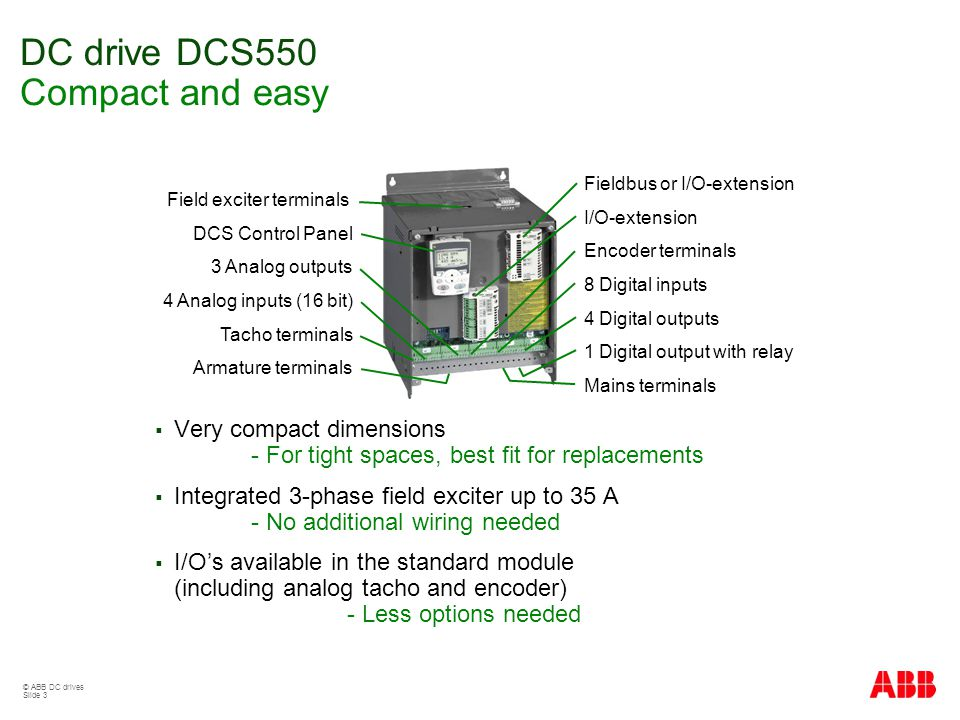 Dcs550 Sales Presentation Ppt Video Online Download. Dc Drive Dcs550 Pact And Easy. Wiring. Dcs800 Drive Wiring Diagram Dc At Scoala.co