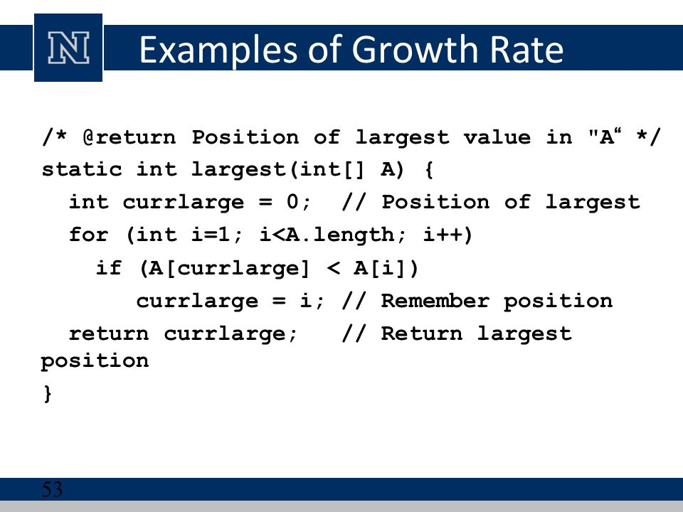 Examples of Growth Rate
