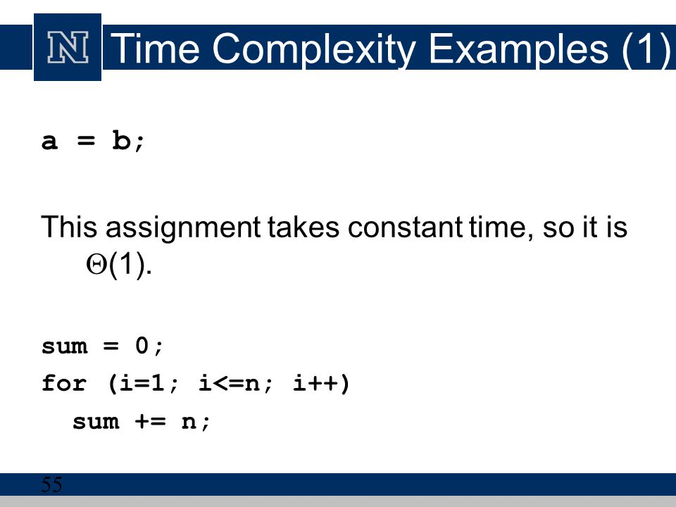 Time Complexity Examples (1)