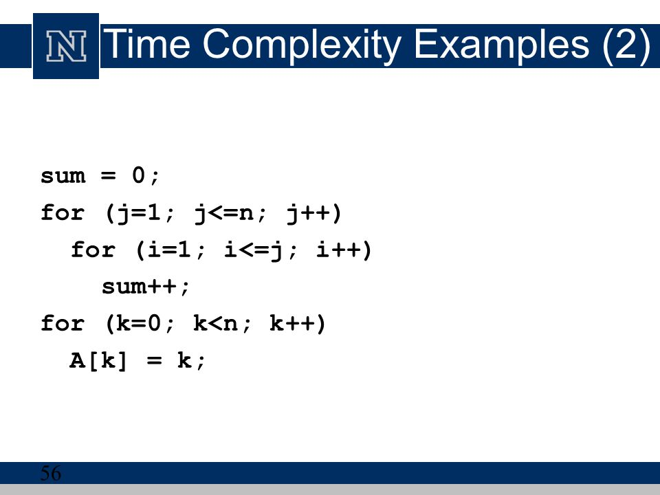 Time Complexity Examples (2)