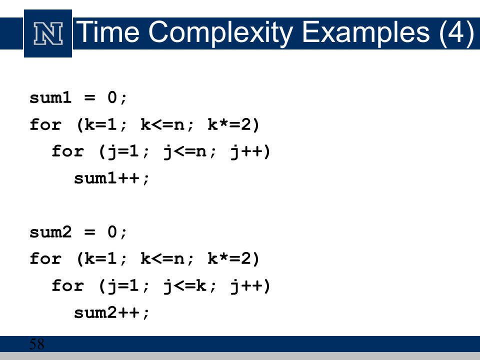 Time Complexity Examples (4)