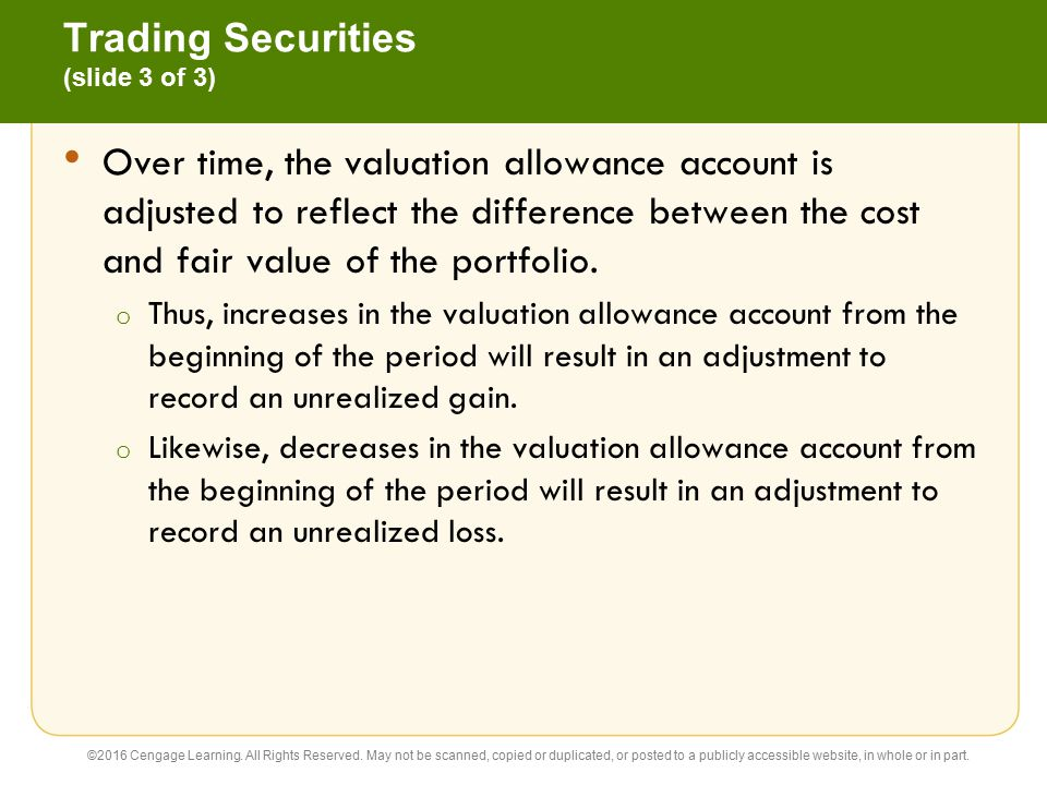 Trading Securities (slide 3 of 3)