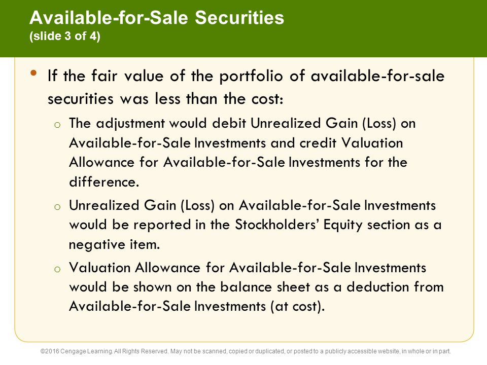 Available-for-Sale Securities (slide 3 of 4)