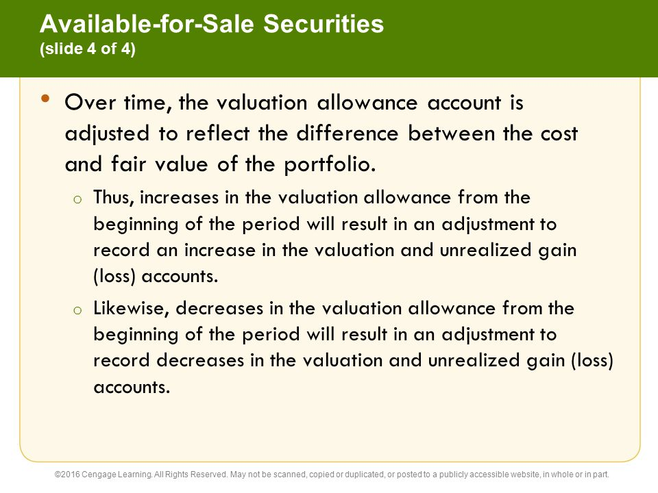 Available-for-Sale Securities (slide 4 of 4)