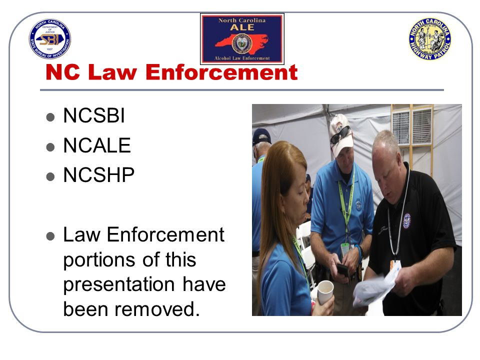 NC Law Enforcement NCSBI NCALE NCSHP