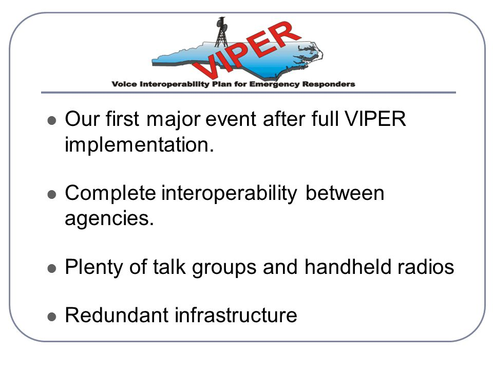 Our first major event after full VIPER implementation.