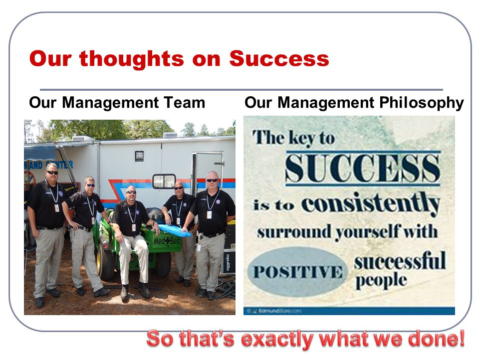 Our thoughts on Success