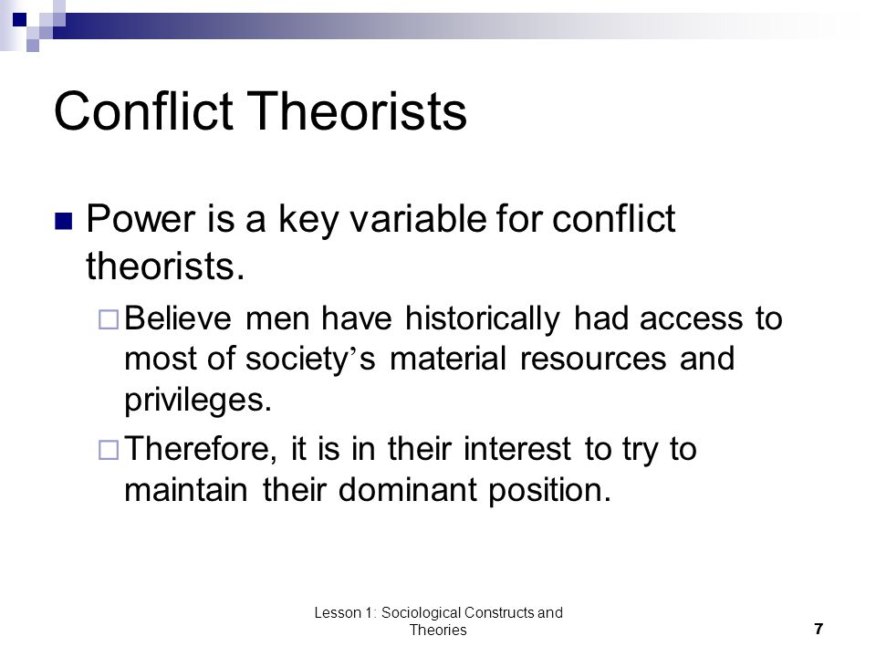 Lesson 1: Sociological Constructs and Theories