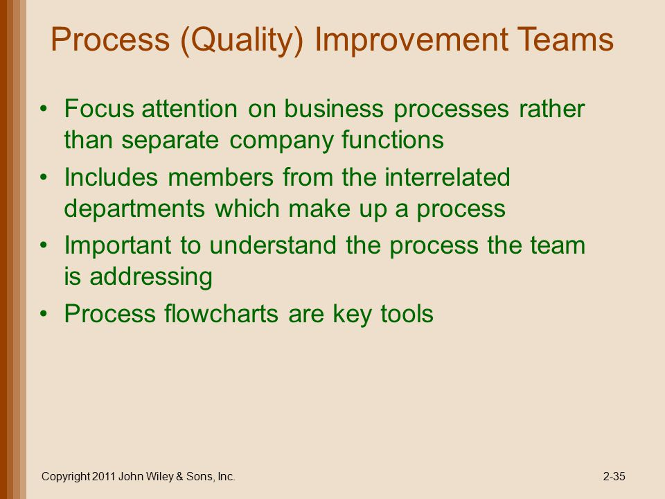 Process (Quality) Improvement Teams