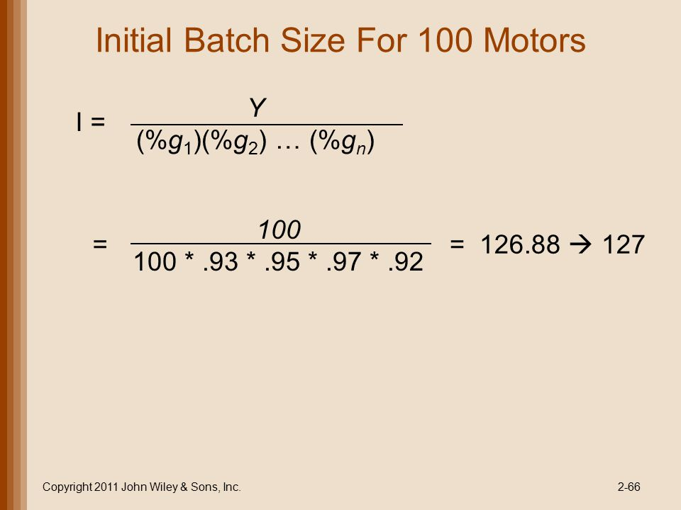 Initial Batch Size For 100 Motors