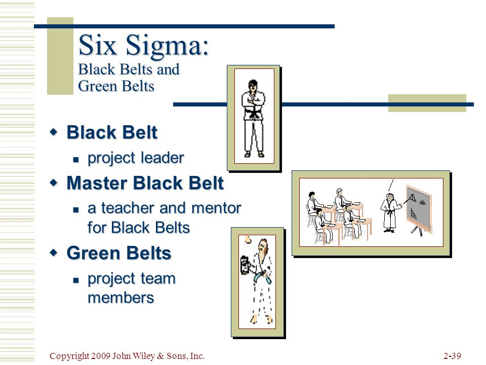 Six Sigma: Black Belts and Green Belts