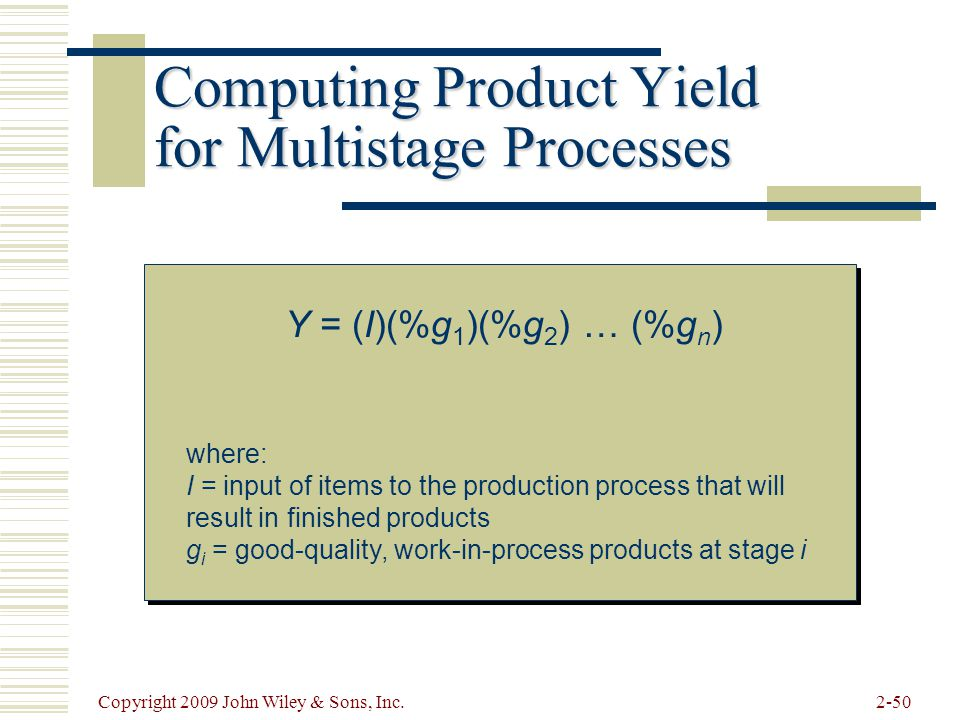 Computing Product Yield for Multistage Processes