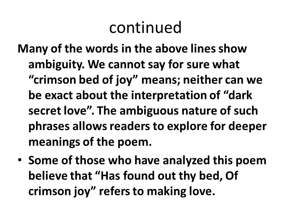ambiguity in poetry
